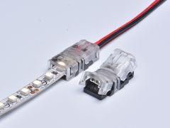 Connector voor 8mm of 10mm led strips naar kabel