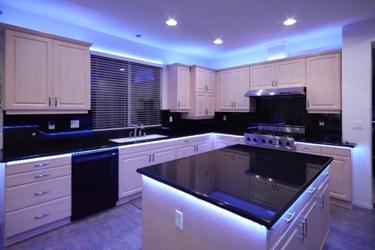 keuken met led strips